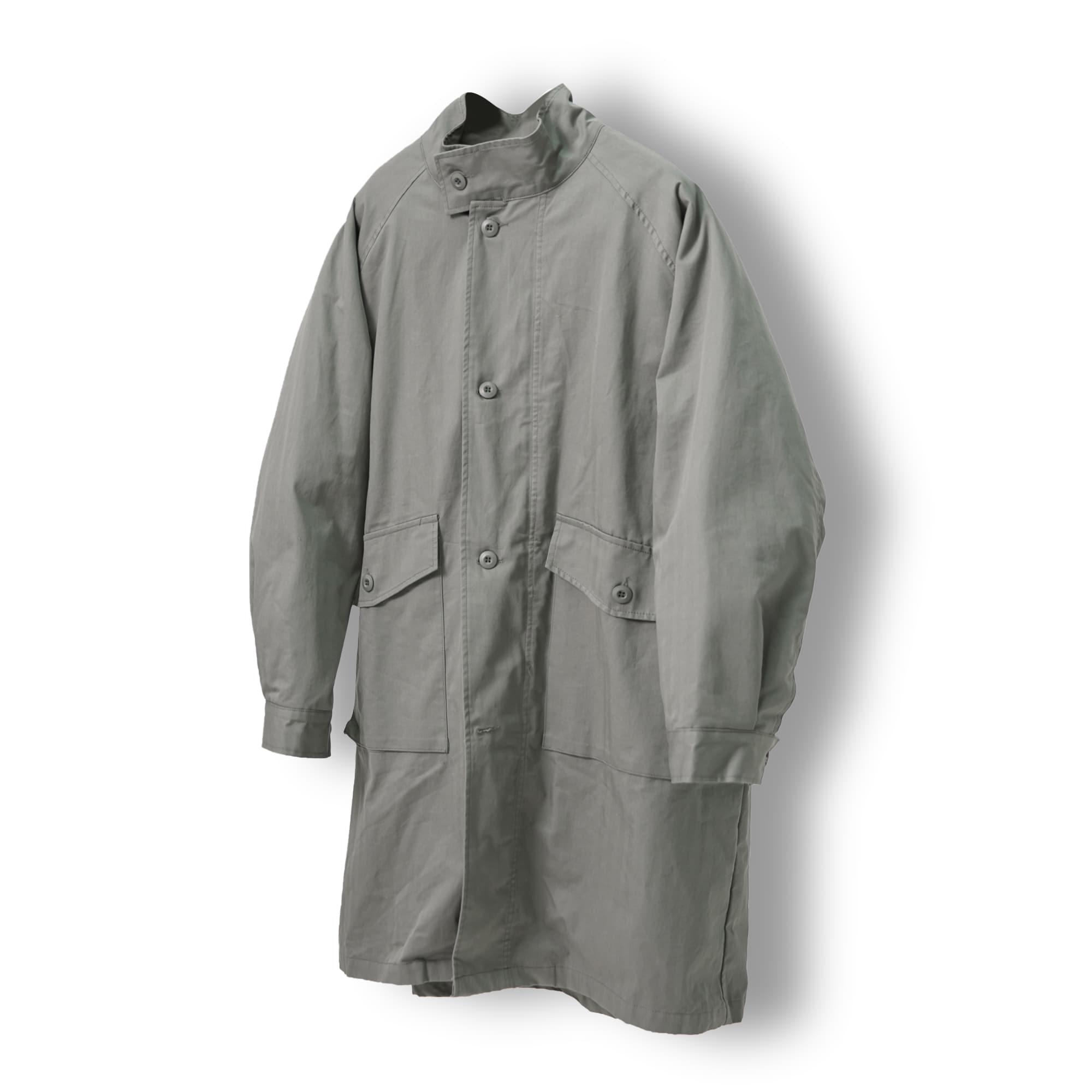 High-neck Safari Coat - Khaki
