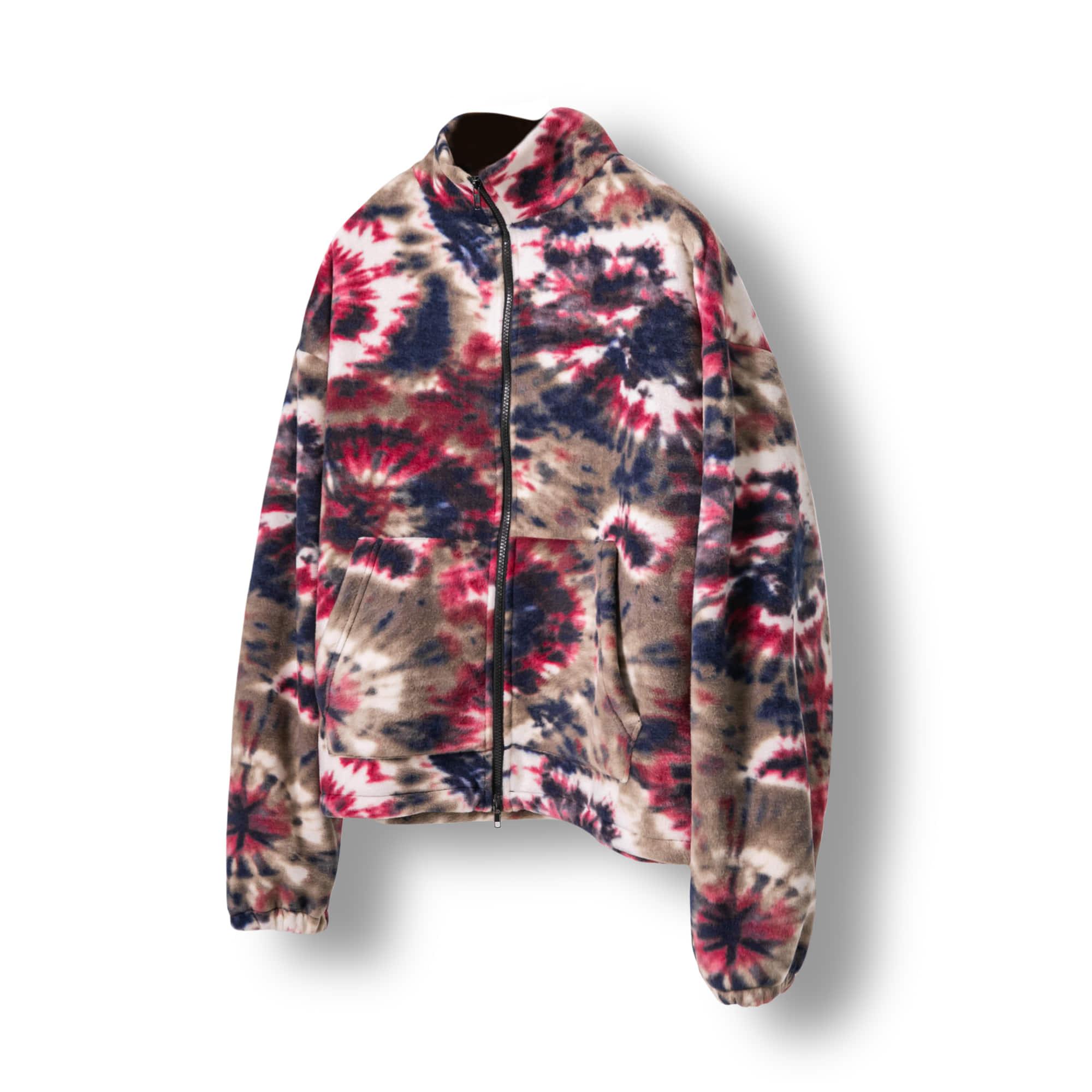 Tie-dye Polar Fleece Jacket - Burgundy