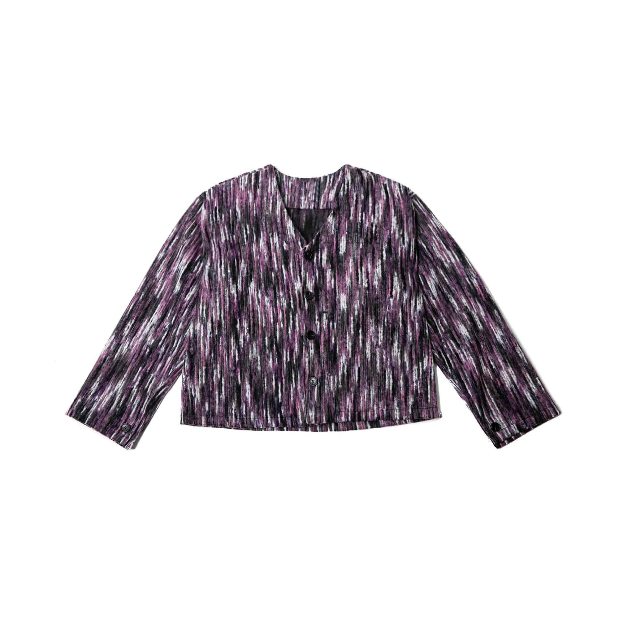 Bohemian Wide Cardigan - Purple