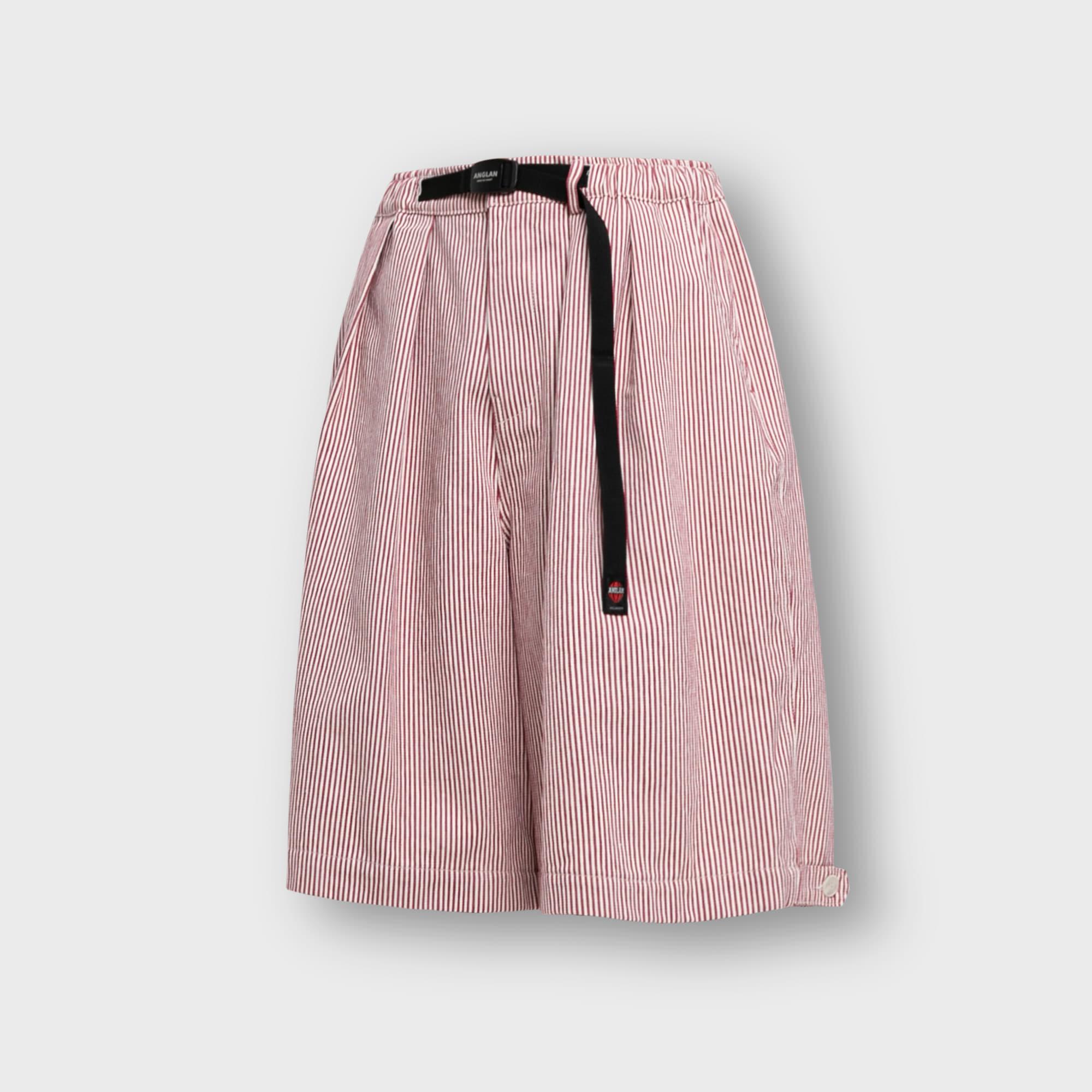 [AG] Hickory Wide Vijo Half Pants - Red
