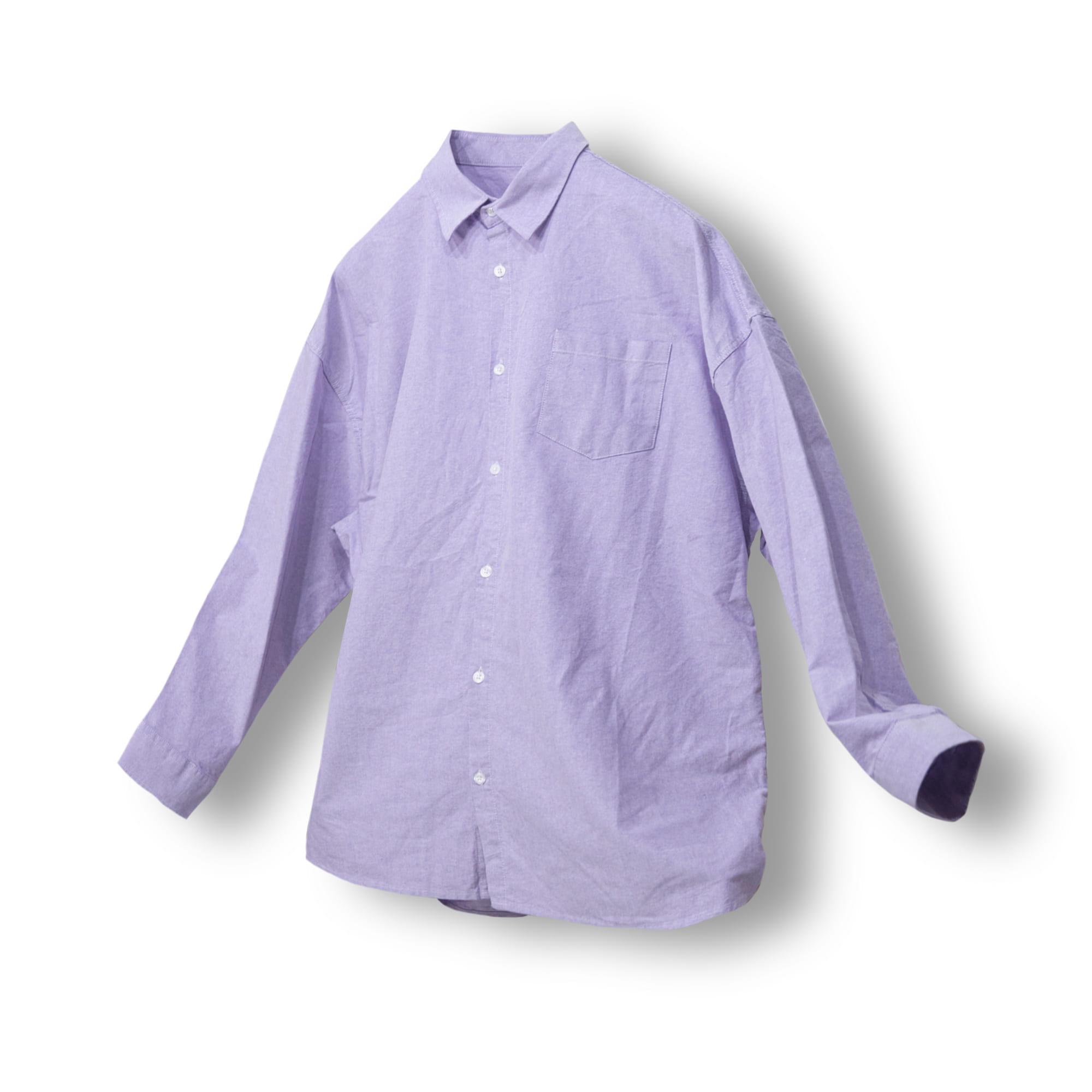 Oxford Wide Shirt - Light Purple