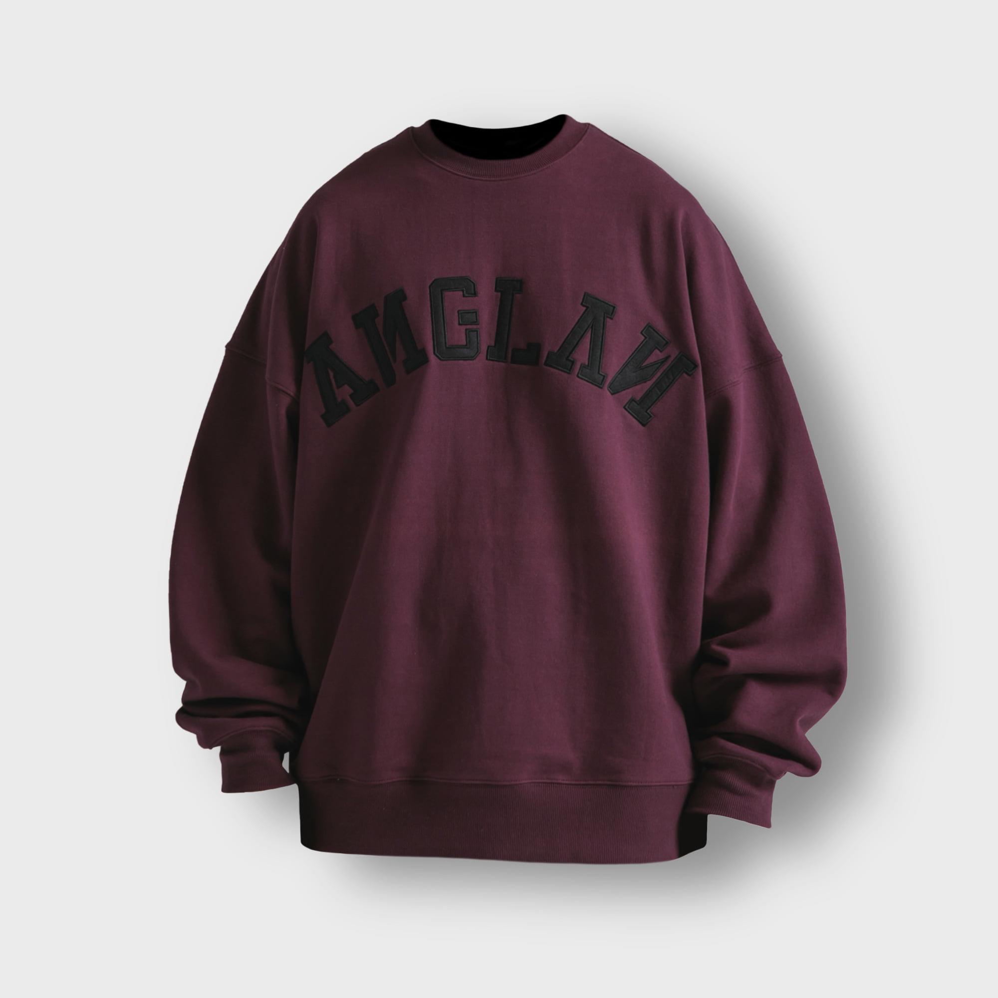[AG] Big Logo Sweat Shirt - Purple