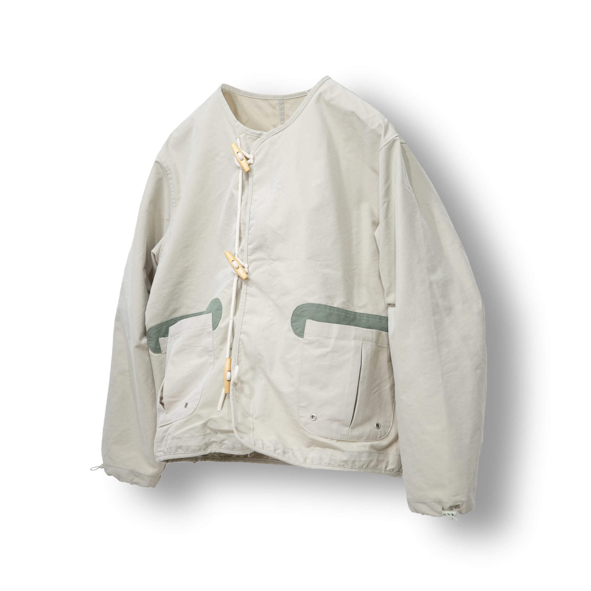 Toggle Hook Double Short Jacket - Khaki