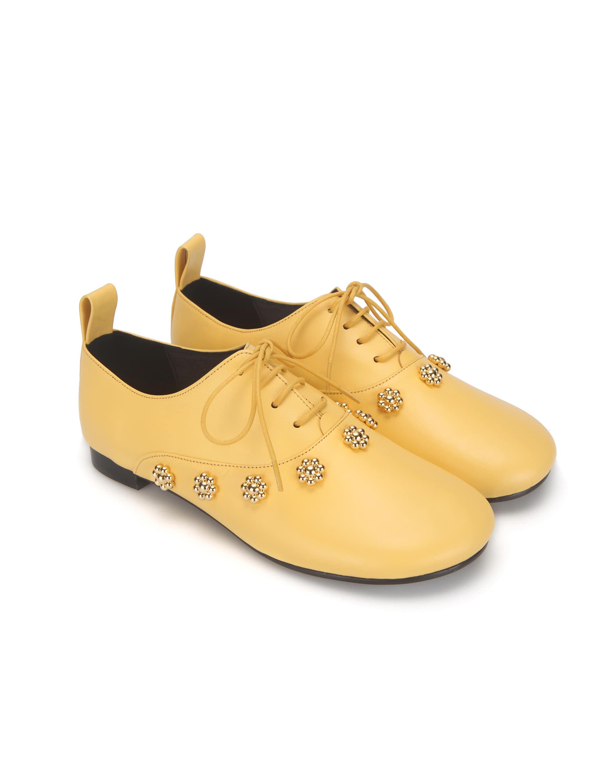 Pebble toe flower oxfords | Yellow