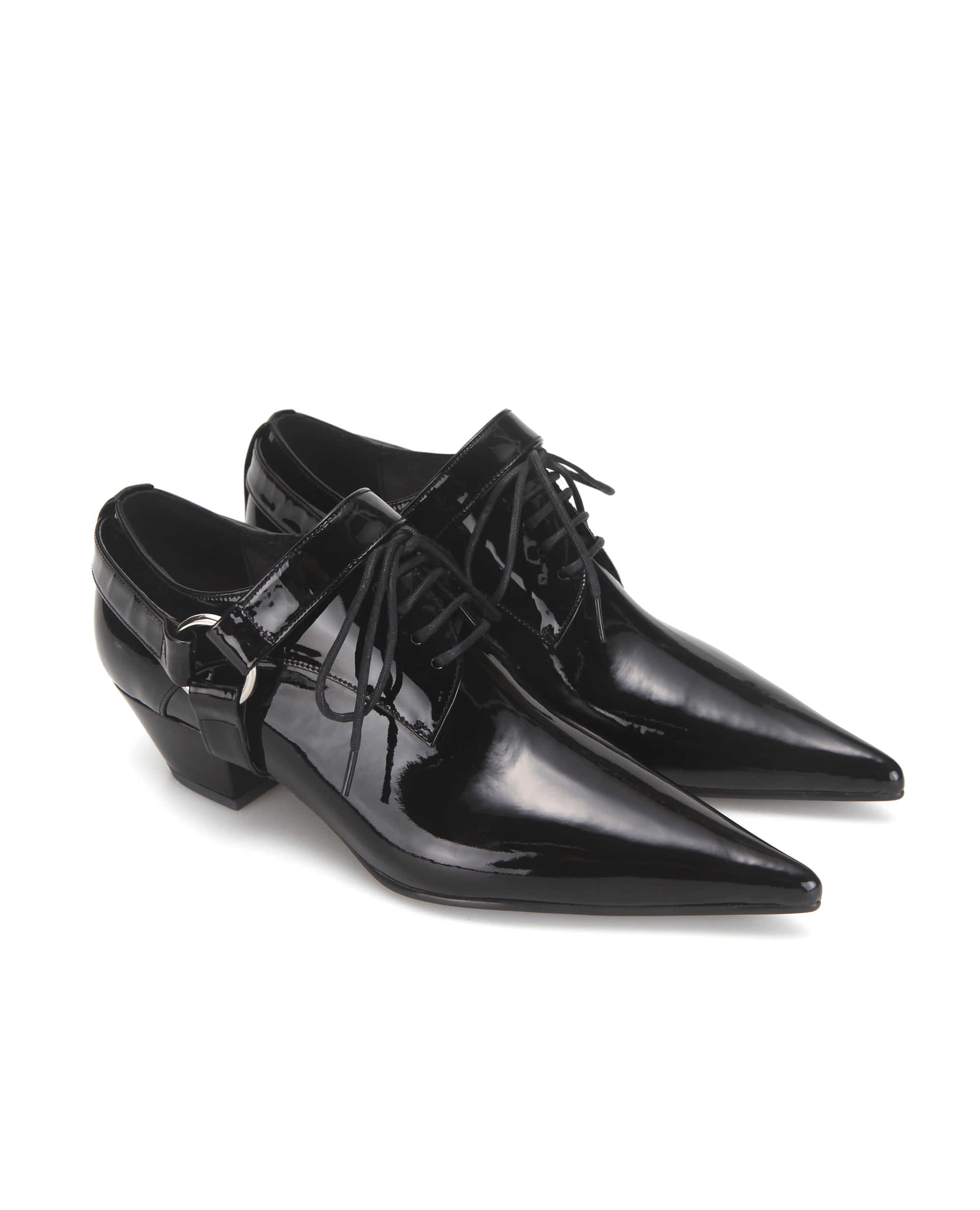 Extreme sharp toe derbys | Glossy black