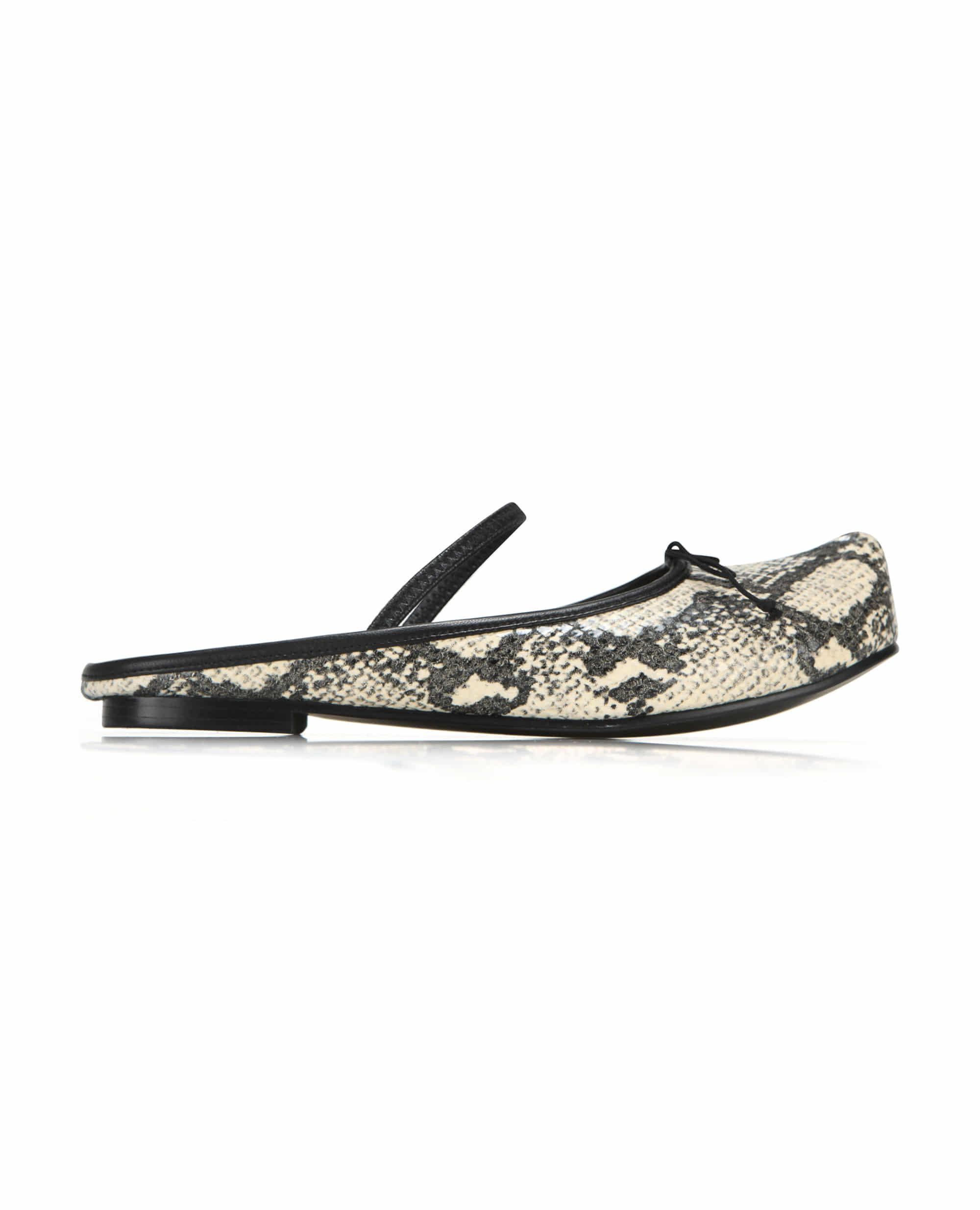 Pointed Toe Ballerina Sabot | Butter snake