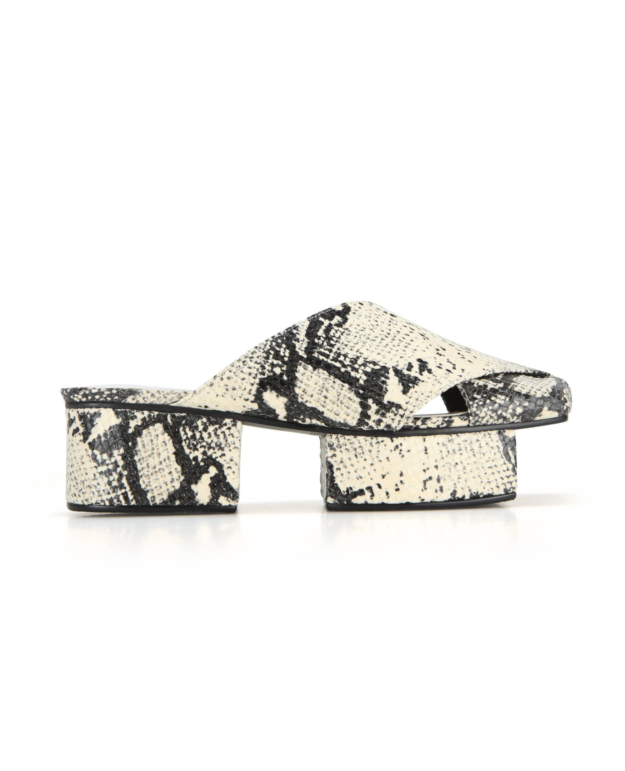 Squared toe crisscross with separated platforms | Butter snake