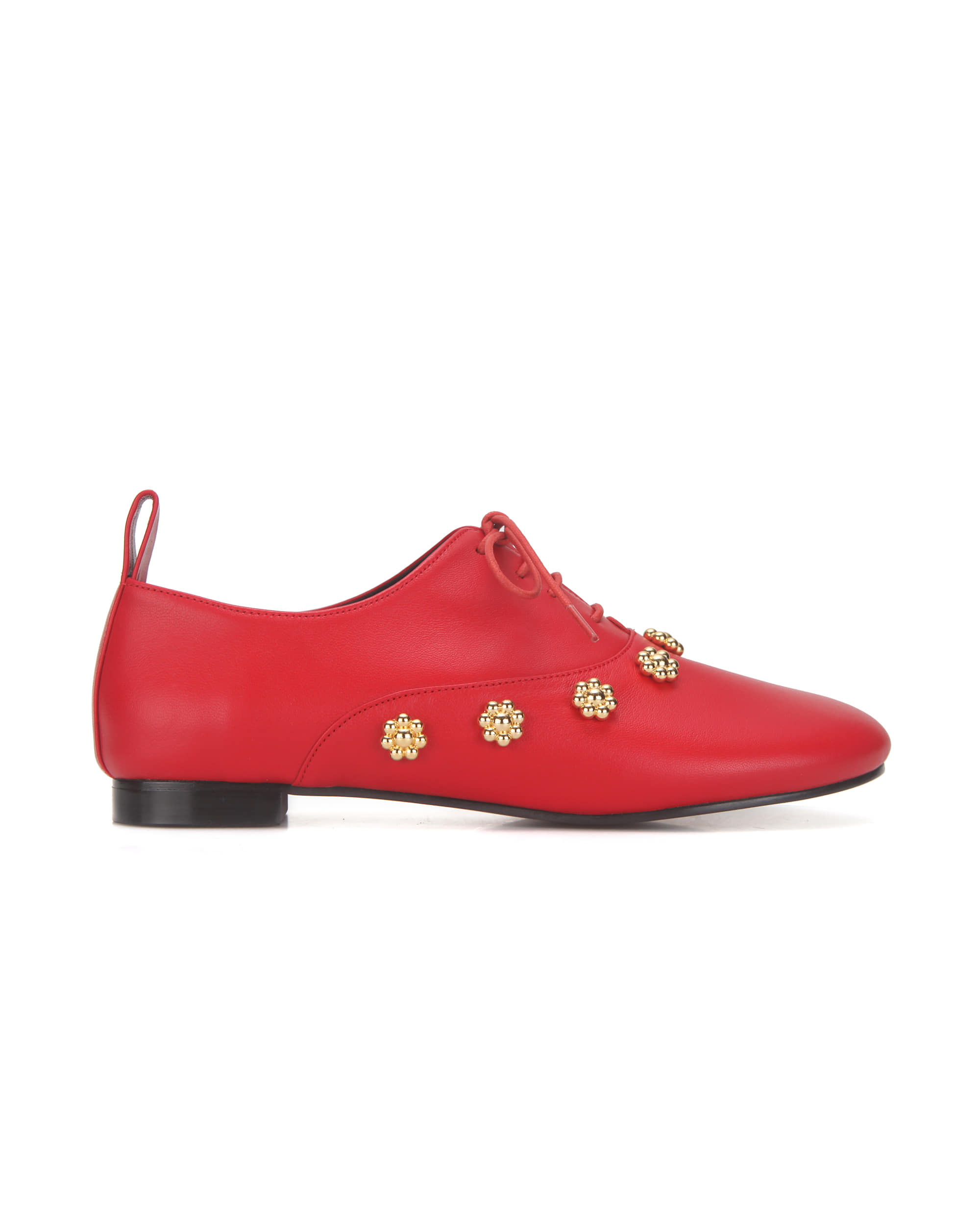 Pebble toe flower oxfords | Red