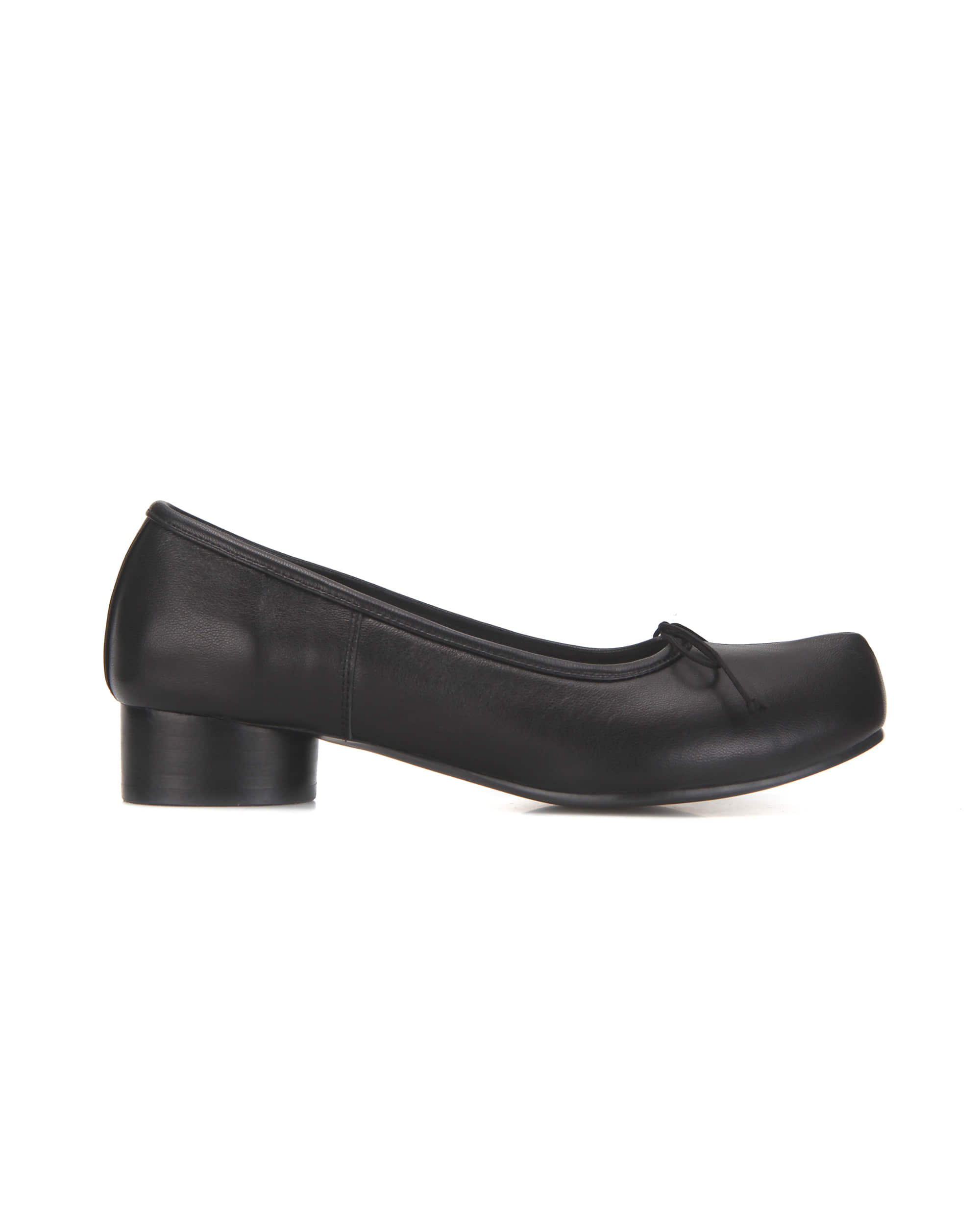 Pointed toe ballerina pumps | Black