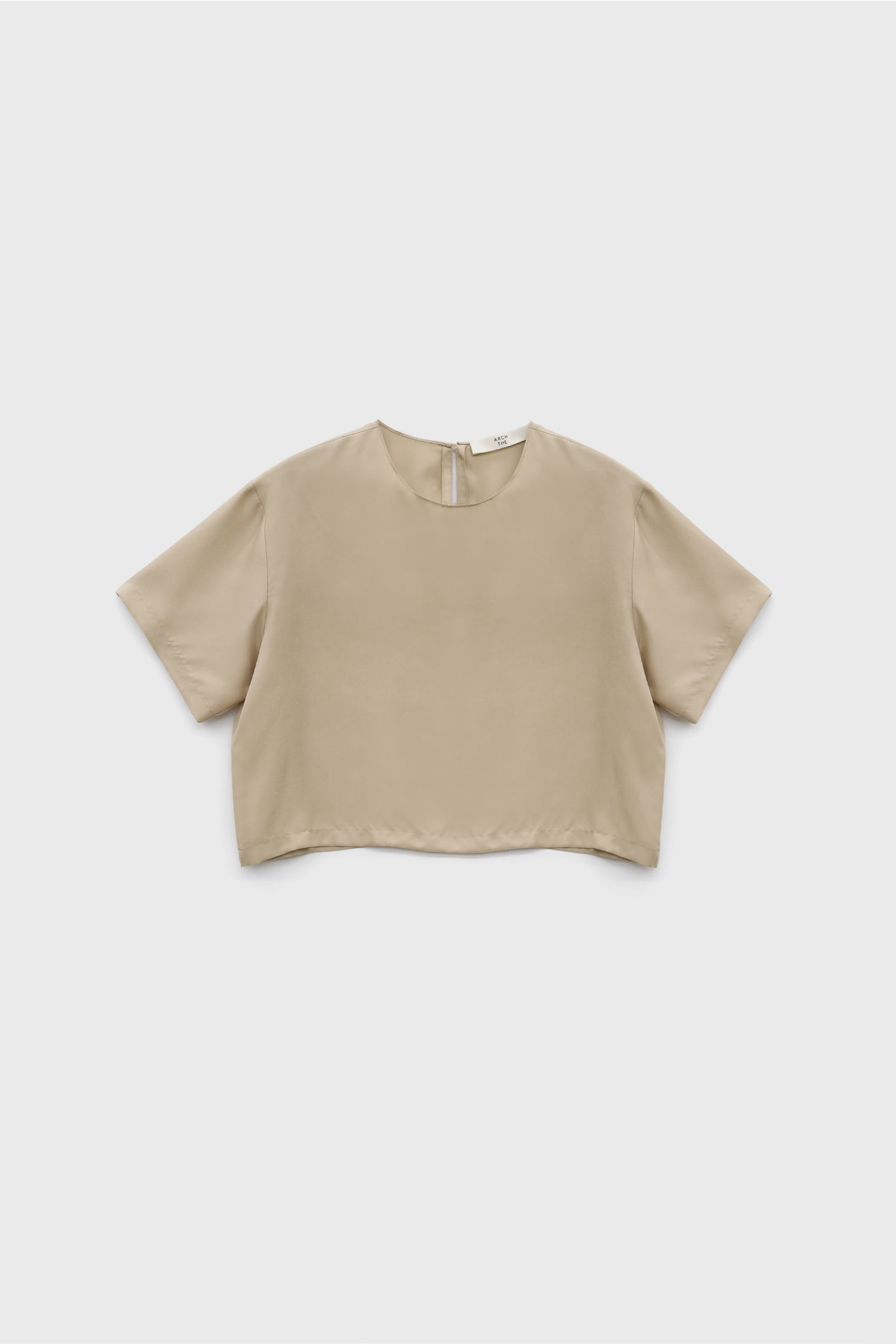 Silk Cropped Blouse