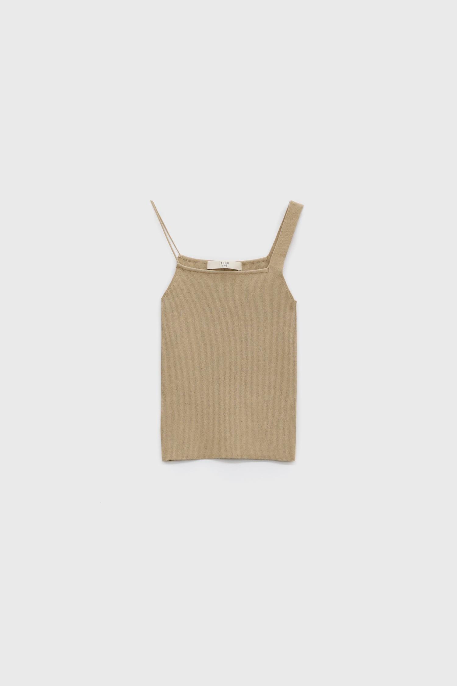 Cotton sleeveless knit