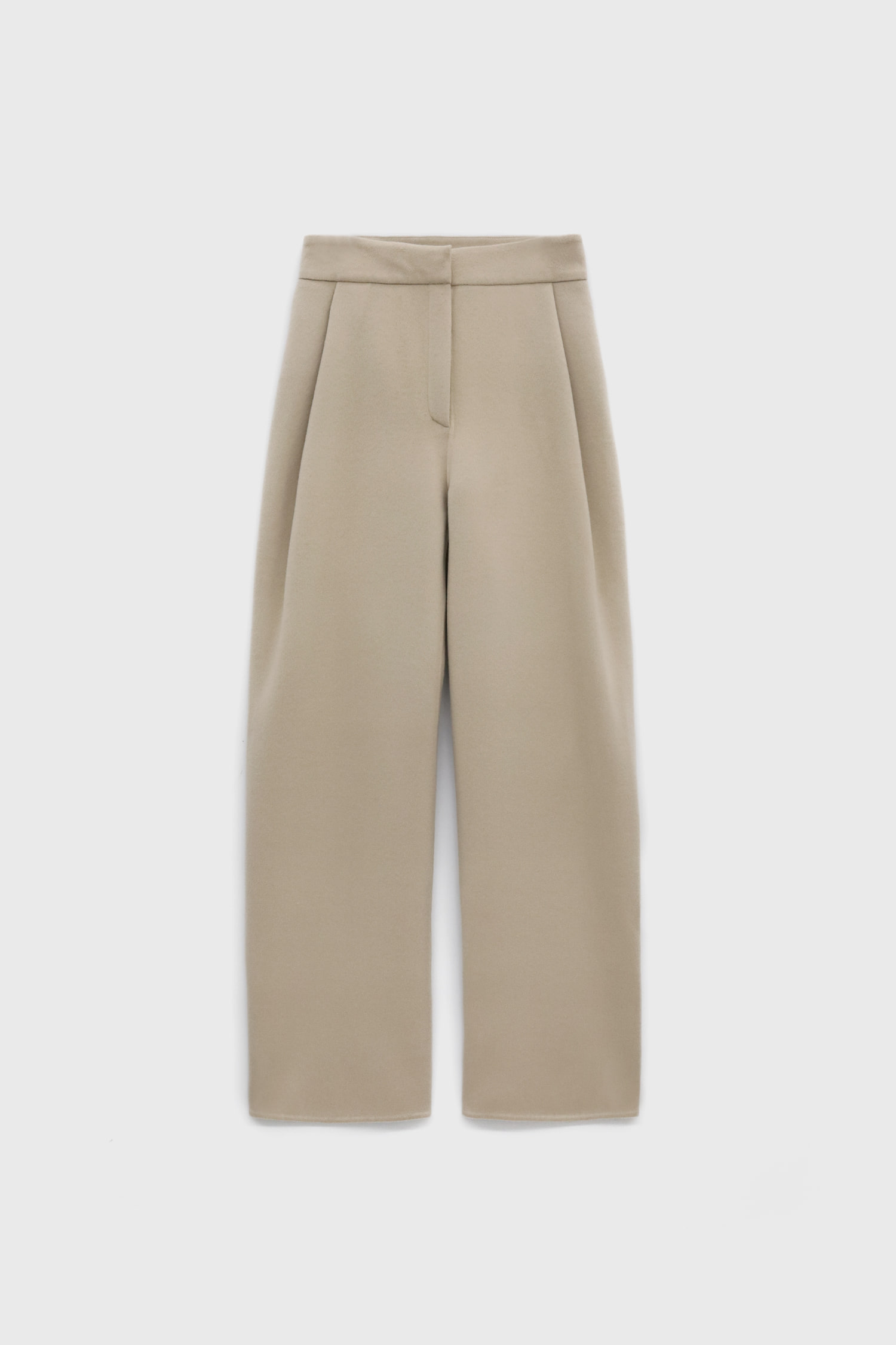 Wide Front Tucks Trousers