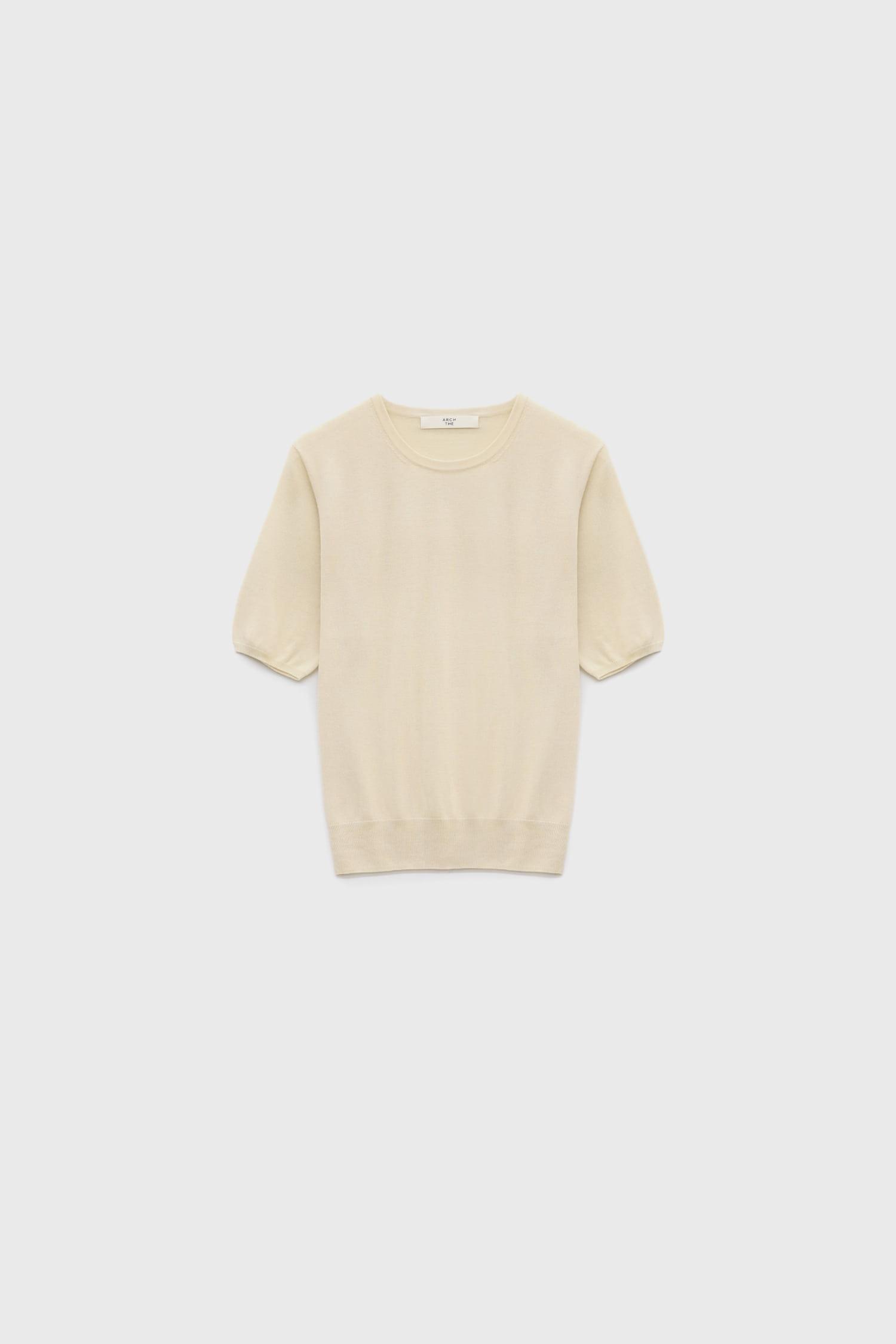 Rround neck short-sleeved sweater