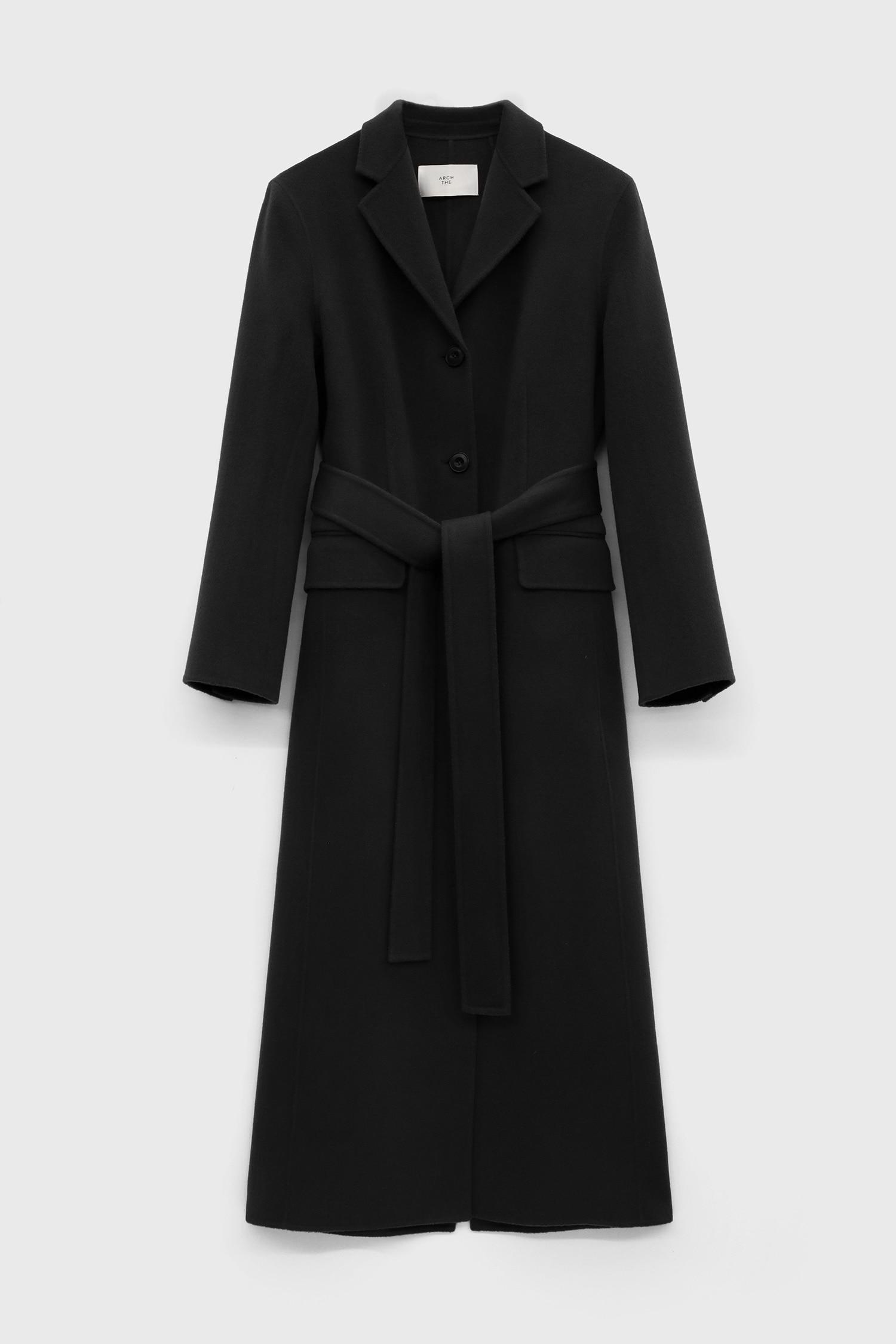 Long Tailored Wool Coat