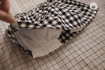 [3차제작] 두근거리게 만드는 쪼꼬미 - black check bloomer skirt