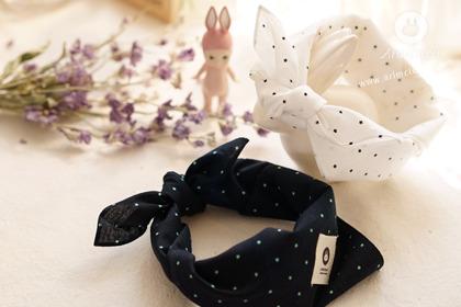 [2차제작] 쪼꼬미 마음 속 별들이 가득 - white/navy mini star scarf