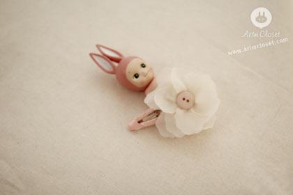 [8차제작] 꽃인 줄 알았잖아 : 똑딱핀 - flower baby pin