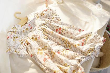 아가를 닮은 예쁜 일곱가지 꽃들 - seven flowers baby cotton sailor all open bodysuit