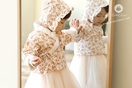 [5차제작] 아기 꽃처럼 귀여운 쪼꼬미가 왔또요 - cute Korean trandition 1oz flower jaket