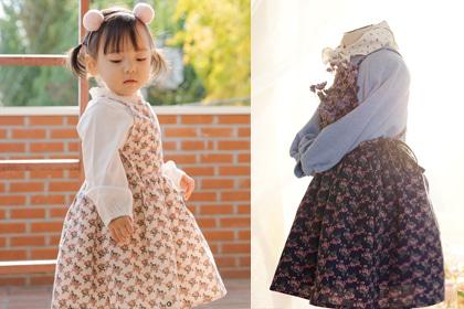 [Good bye sale 20%] 오늘만큼은 꽃을 사랑하는 플로리스트 - 2color cute baby overall flower cotton dress