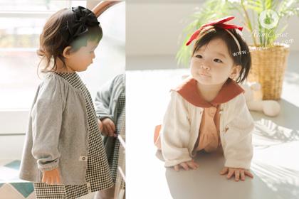 [20차제작] 포근한 촉감의 너 - gray or ivory pure cotton baby cardigan