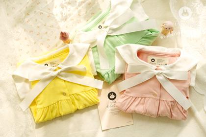 동그란 비누방울이 우리 아가의 마음을 훔쳤또 - mint, yellow, pink sailor baby cotton all open bodysuit