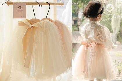[4차제작] 스윗한 솜사탕 한입에 기분까지 좋아진 오늘 - lovely big ribbon peach or vanilla cotton - candy long baby tutu