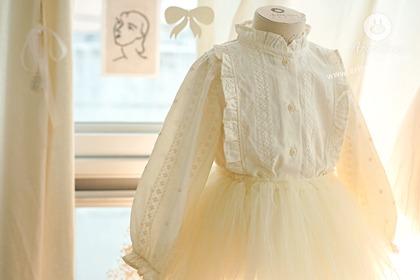 [4차제작] 여느때와 같은 날들, 너는 오늘도 눈부셔 :) - cream color so lovely baby cotton blouse