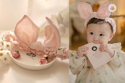 [8차제작] 쪼꼬미 뽀뽀가 달콤한 토끼 - soft pink bunny band