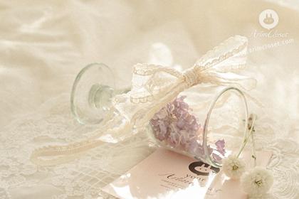 햇살 머금은 쪼꼬미가 눈부시던 날 - pure cream ribbon lace babyband