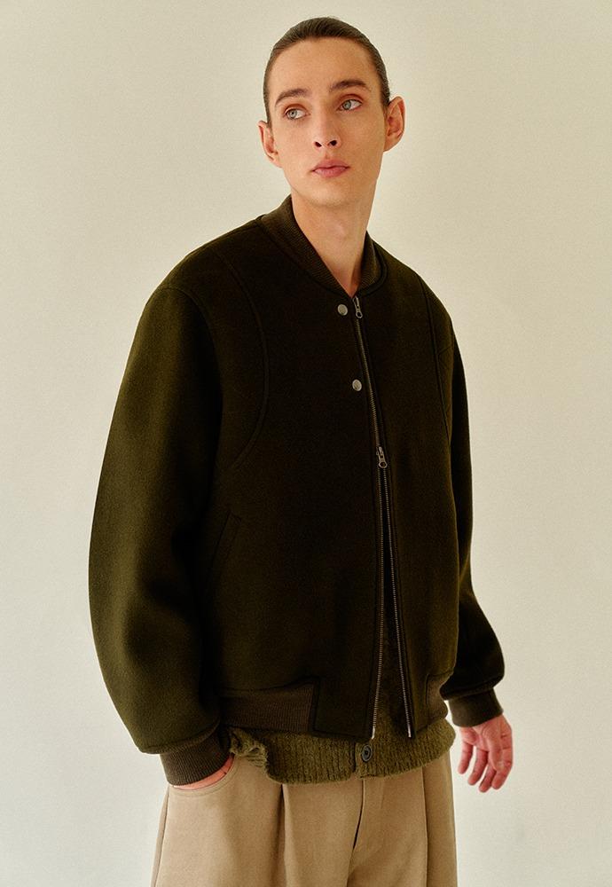 Varsity Jacket_ Khaki Green