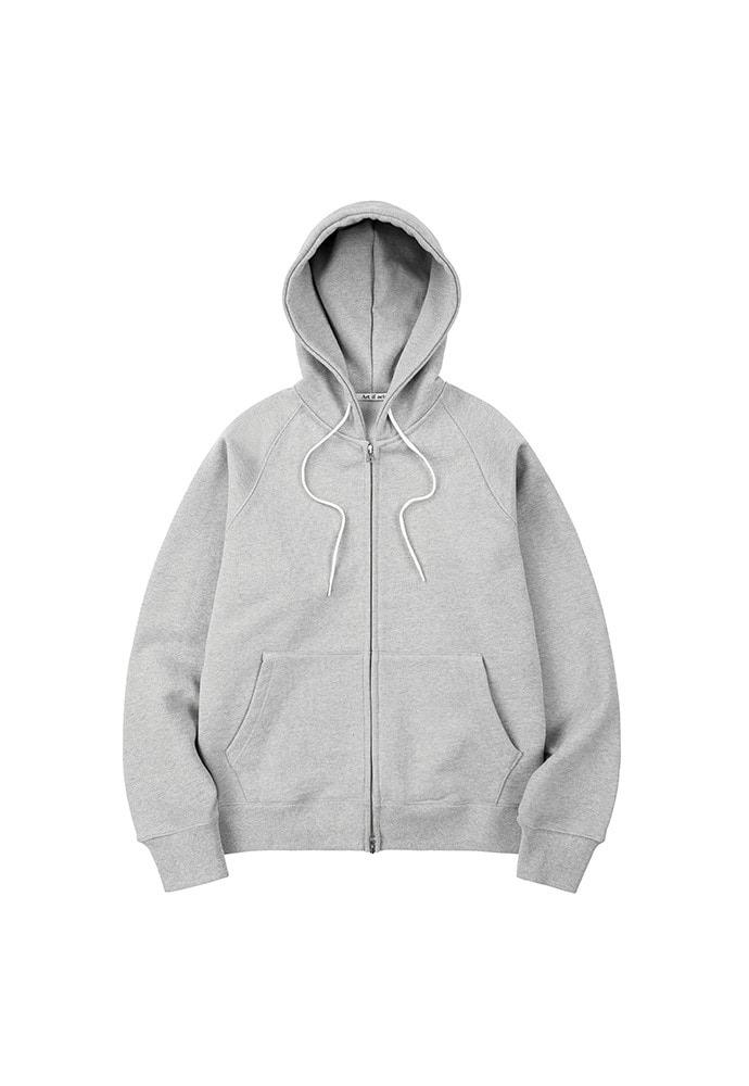 Heavy Hooded Sweat Shirt(zipup)_ Melange Grey