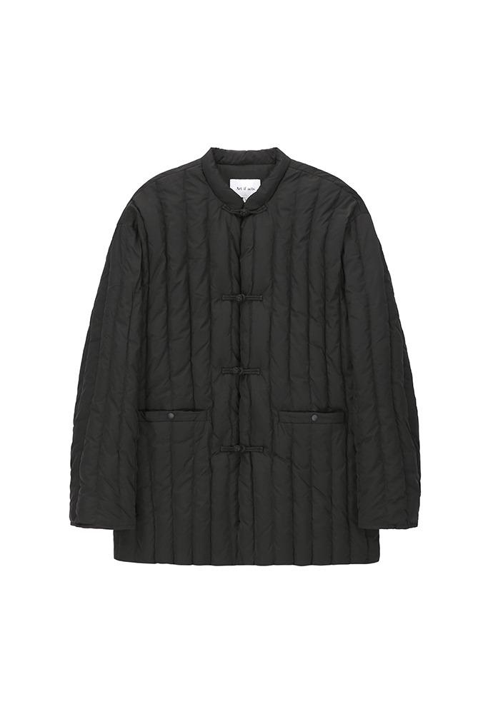 Oriental Styled Goose Down Jacket_ Black