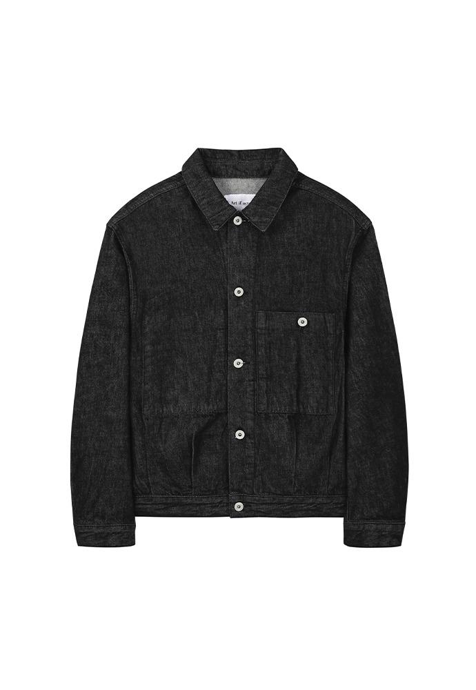 Trucker Denim Jacket_ Washed Black