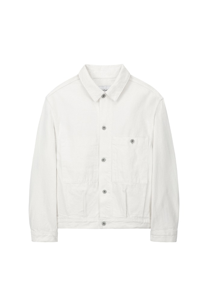 Trucker Denim Jacket_ Off White