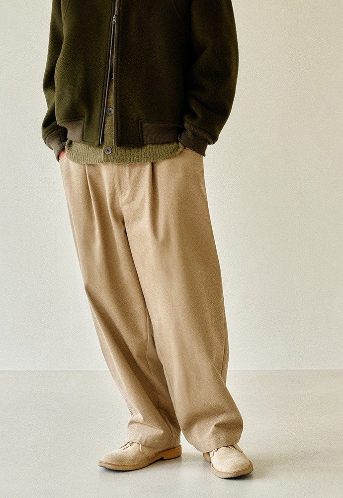 Structured Wide Pants_ Taupe