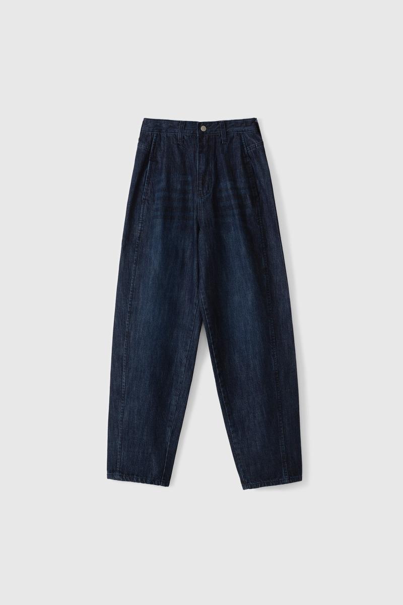 SIMPLE WASHING DENIM PANTS