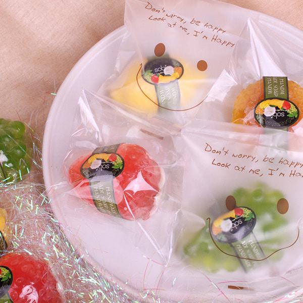 소비아 수제 과일비누 1개입  답례품 기념일 단체 선물 개별포장 스마일형
