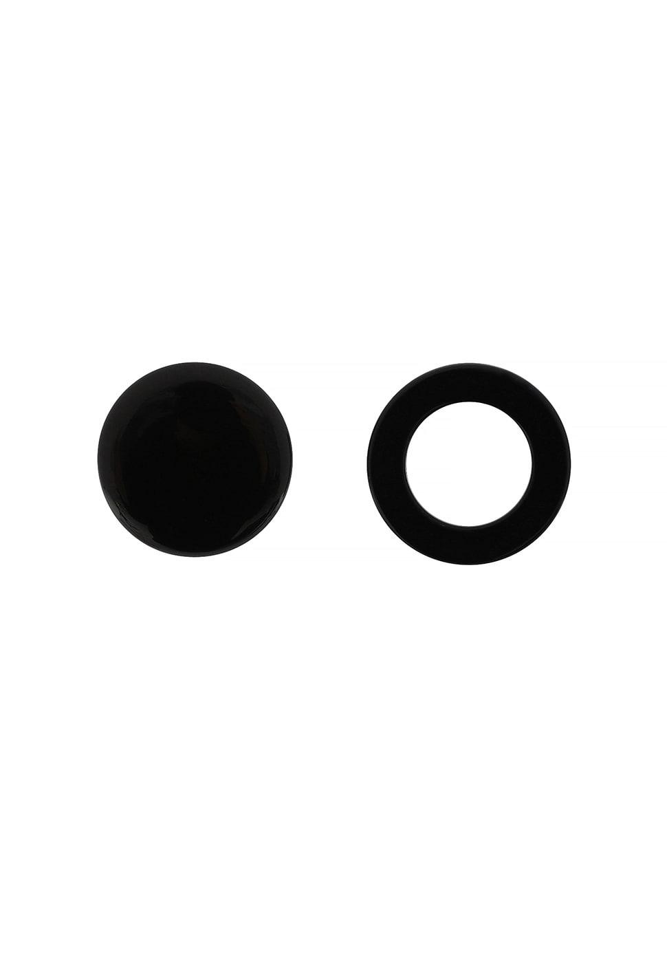 Unbalance Moon Earring (black)