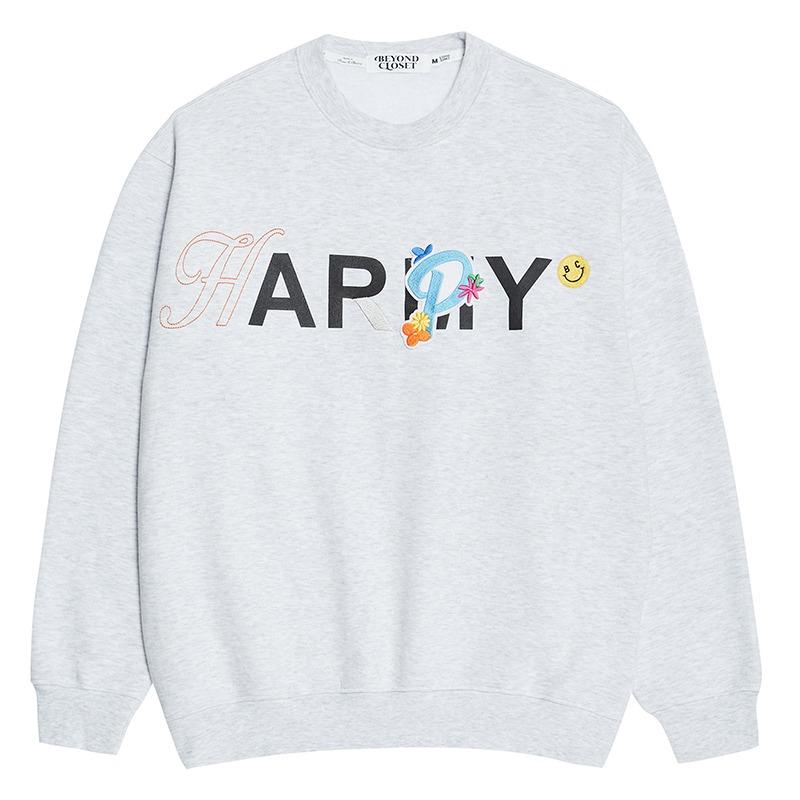 [기모]HAPPY HOMMAGE 80'S SWEAT SHIRTS GRAY