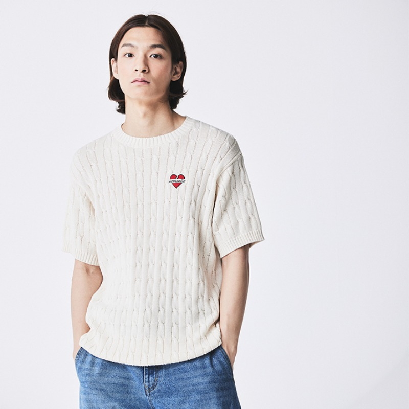 NOMANTIC CLASSIC CABLE 1/2 KNIT IVORY