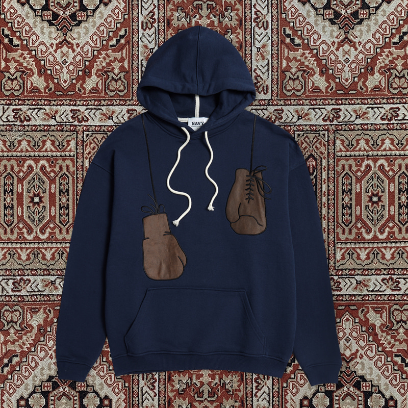 [20ARCHIVE]80s BOXER DETAIL HOOD T-SHIRTS NAVY