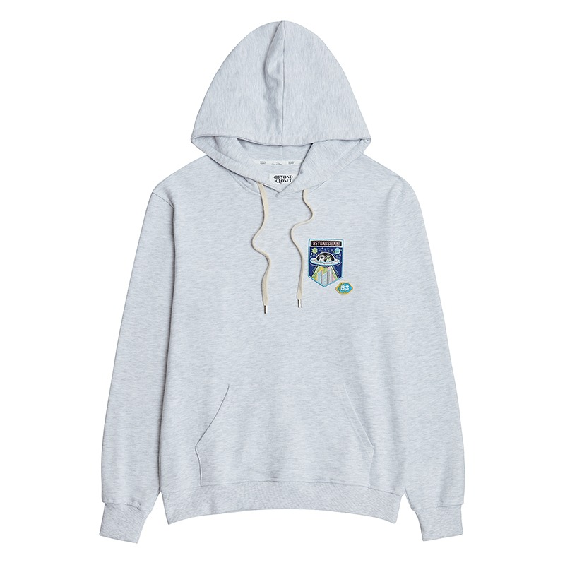 BIS COLLECTION INVASION HOOD T-SHIRTS GRAY