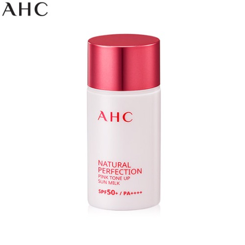 AHC Natural Perfection Pink Tone Up Sun Milk SPF50+ PA++++ 40ml