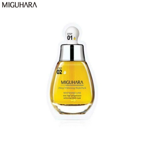 MIGUHARA 2Step Whitening Mask Pack 26.7ml