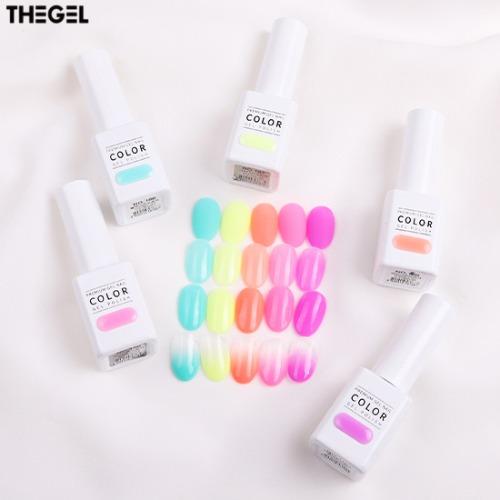 THE GEL Neon Aurora Edition Half Syrup Gel Nail Set 5items
