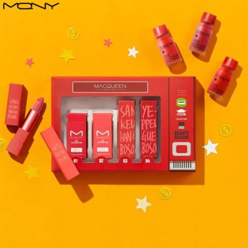 MACQUEEN NEWYORK CaCao Gift Box Beauty Machine Lip Set 4items,Beauty Box Korea,MACQUEEN New York,MACQUEEN KOREA