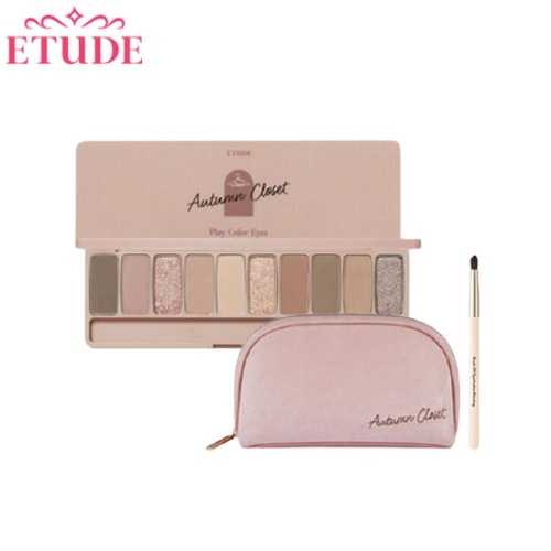 ETUDE Play Color Eyes Autumn Closet With Pouch & Brush Set 3items