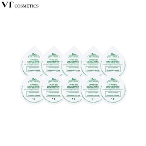 VT Pro Cica Centella Asiatica Tiger Cream Mask 7.5ml*10ea [Blister Pack]
