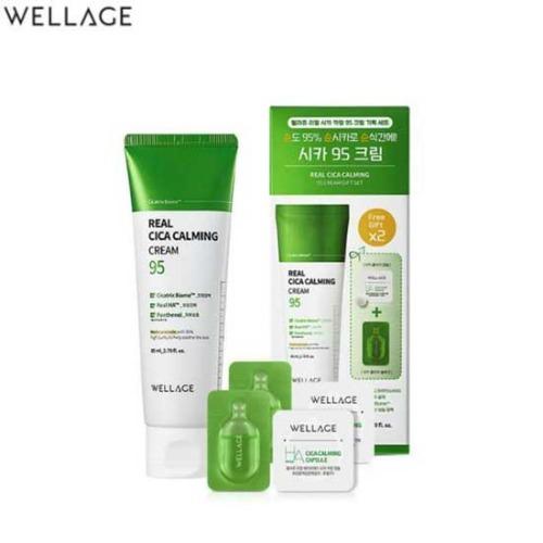 WELLAGE Real Cica Calming Cream 95 Speical Set 3items